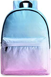 MYXMY Small Fresh Student Campus Bag Shoulder Bag Men and Women Student Bag Snow Mountain Print Canvas Backpack Computer Bag Water Repellent (Color : C)