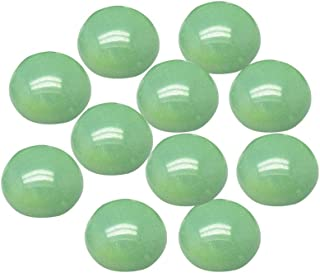 B.D craft 50pcs Natural Malaysian Jade Cabochons Sea Green Gemstone Flat Round Cabochons Undrilled Gemstone Cabochons for Pendants and Rings Making or Blank Bezel Trays 12x5mm