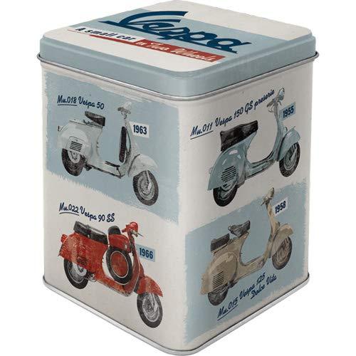 Nostalgic-Art Retro Teedose Vespa – Modelo Chart – Idea de Regalo para los Amantes de los Scooters, para Guardar Suelto y Bolsas de té, Diseño Vintage, 100 g
