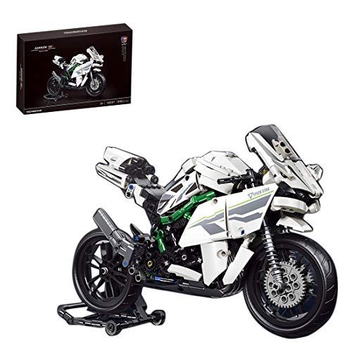 NFtop Technic 800 Piezas Moto Motocicleta Set de Construcción para H2, Compatible con Lego