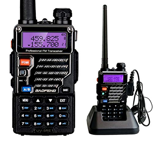 BaoFeng UV-5RE UHF/VHF Radio Bidireccional con Auricular, Doble Banda