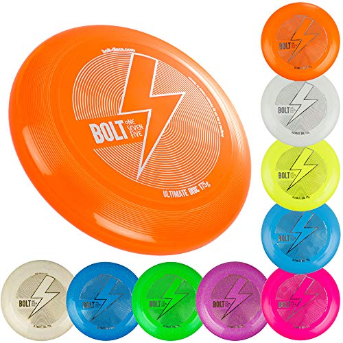 BOLT OneSevenFive Ultimate Frisbee Flying Disc! ¡Cinco Colores UV Disponibles! (Glow)