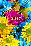 2017: Kalender/Terminplaner: 1 Woche auf 2 Seiten, Format ca. A5, Cover Blumen