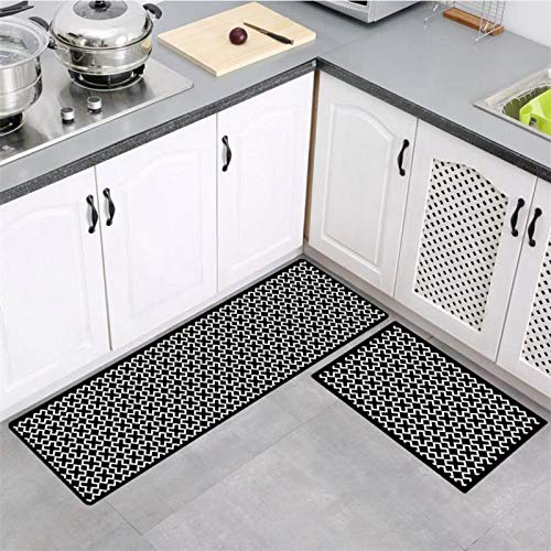 OPLJ Küchenmatte Badteppich Schlafzimmer saugfähig rutschfest Fußmatte Eingangstürmatten waschbar Wohnzimmer Flur Teppich A20 40x60cm