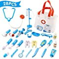 Qutasivary Doctor Kit for Kids, 28 Pcs Toddlers Doctor/Dentist Toys Pretend Play w/c Medical Bag, Xmas Gifts for Boys/Girls Ages 3+ from Qutasivary