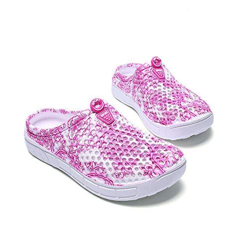 WTFYSYN Piscina de Gimnasio Zapatillas,Zapatillas Antideslizantes Transpirables, Zapatos con Agujeros de Playa para jardín-E_36,Hombre & Mujer & Pareja Sandalias