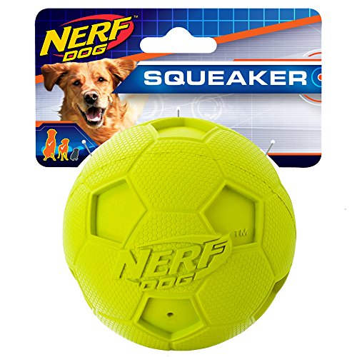 Nerf Dog 4in Soccer Squeak Ball Green, Dog Toy, Model Number: 2172