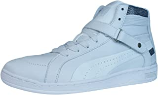 PUMA The Key Womens Leather Mid Top Trainers/Shoes - White