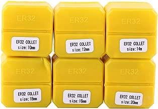 ER32 Collet Set, CNC Engraving Machine Collet Set ER32 Spring Collet 6pcs Milling Lathe Collet Tool 10-20mm