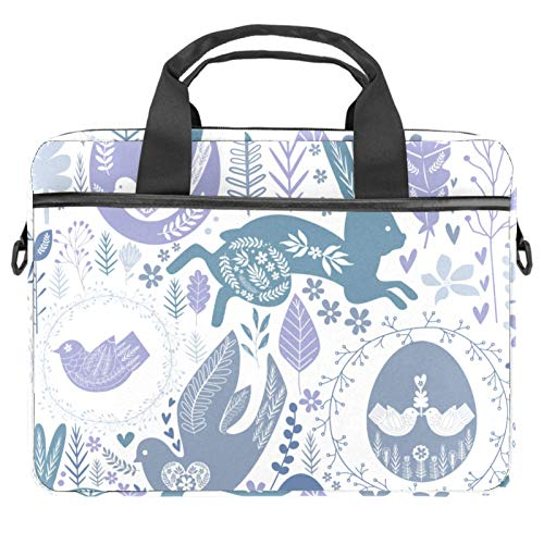Laptop Bag Rabbit Bird and Eggs Notebook Sleeve with Handle 13.4-14.5 inches Carrying Shoulder Bag Briefcase