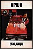 "JUNIQE® Autos Filme Poster im Kunststoffrahmen 30x45cm - Design ""Drive"" entworfen von Ads Libitum"