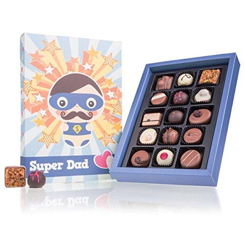 Super Dad Deluxe - 15 deliziosi cioccolatini | Festa del papà | Compleanno | Idea regalo | Papa | Padre | Papà | Cioccolatini fatti a mano | Praline cioccolato | Dolci | Natale | Nascita | Deliziose