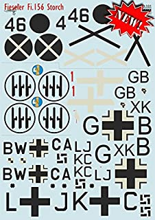 DECAL FOR AIRPLANE FIESELER FI.156 STORCH AIRCRAF 1/48 PRINT SCALE 48-101