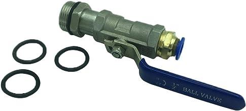 Milageto 200L Tanque De Aceite Válvula De Drenaje Grifo Grifo Grifo PU Manguera De Aire - Blanco 10mm