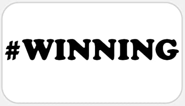 #Winning - 50 Stickers Pack 2.25 x 1.25 inches - Hashtag Winning Charlie Sheen