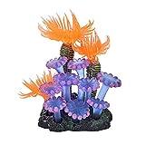 LHK Adorno de Coral de Acuario, decoración de Resina de simulación de Plantas acuáticas, corales, anémona de mar, pecera, Fondos de Paisaje, Accesorios, para Decoraciones temáticas