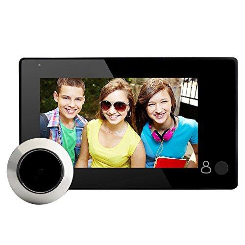 TOOGOO Telecamera per Campanello Video Digitale Lcd da 4.3 Pollici con Spioncino, Visione Notturna A Infrarossi, 145 Gradi, Fotocamera Campanello Intelligente