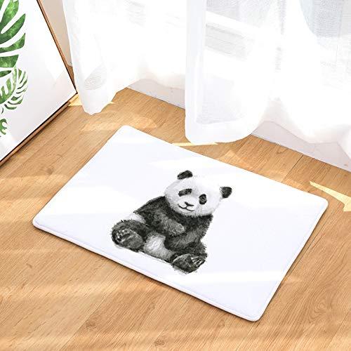 HLXX Panda Cute Animal Printed Rectangular Mat Entrance Door Mats Washable Kitchen Floor Bathroom Anti-slip Mats Rugs A10 40x60cm