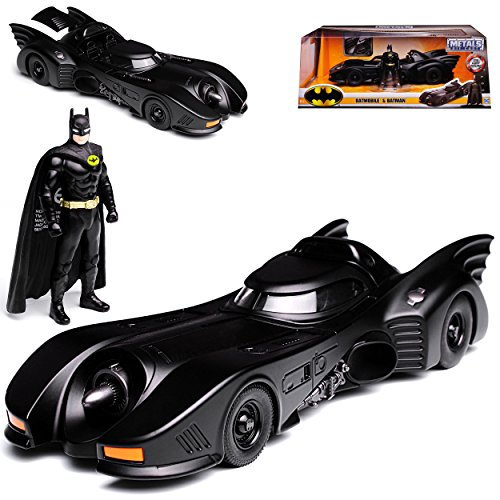 Batmobile und Batman Batman Returns 1989 mit Figur 1/24 Jada Modell Auto