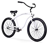 Firmstrong Bruiser Man Single Speed Beach Cruiser Bicycle, 26-Inch, White