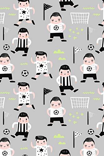 Fussball Muster - Torhüter Stürmer Fans Verein 25: Unliniertes Notizbuch mit Rahmen für Fußballspieler und Fußballfans