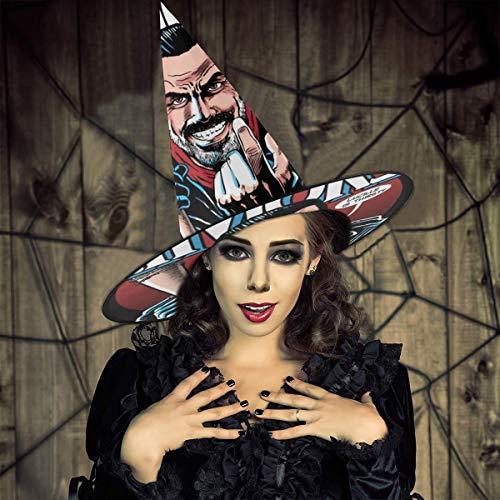 AISFGBJ Walking Dead Negan Lucilles Sombrero de bruja sedienta Halloween Unisex Disfraz para vacaciones Halloween Navidad Carnavales Fiesta