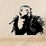 Corey Slip-Knot Taylor Zombie Mask Singer Heavy Metal Nu-Metal Music Band Pegatina de pared Vinilo Calcomanía para coche Boy Fans Dormitorio Bar Club Studio Decoración para el hogar Mural