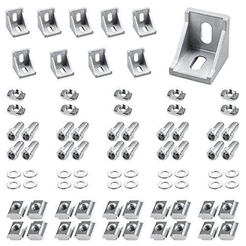 Eckwinkel 3030 Eckverbinder 10 x Winkel aus Aluminium für Aluprofil/Aluformrohre(Silber)