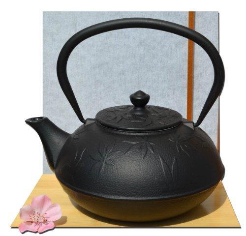 Ghisa Tetsubin una foglia d' acero nero teiera bollitore 1litro in stile giapponese