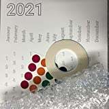 Large DIY 2021 Bubble Wrap Poster Sized Wall Calendar - Top Creative Christmas Gift
