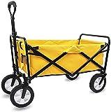 WEI-LUONG Camiones multifunción de Mano portátiles, Que dobla Carro Utilidad Carro de la Compra al Aire Libre Jardín Camping Deportes Carro Carro de Servicio Pesado, Amarillas carros