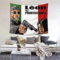 「レオン」ナタリー・ポートマン Leon Natalie Portman 映画のポスター 3 タペストリー 多機能壁掛け 装飾用品 タペストリー 模様替え 部屋 窓カーテン 個性ギフト 気質を高める センス 部屋にはいいものが必要です( 152cm*130cm )