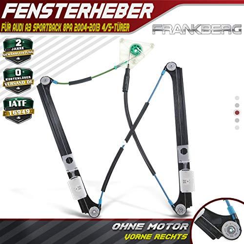 Frankberg Fensterheber Ohne Motor Vorne Rechts für A3 Sportback 8PA 2004-2013 8P4837462