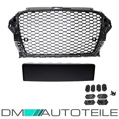 DM Autoteile Wabendesign Kühlergrill Wabengrill Glanz passend für A3 8V 12-16 auch RS3