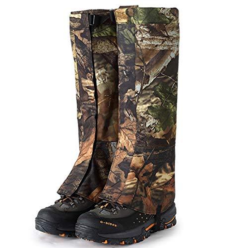 Whewer Leg Gaiters Camo Legging Gaiters Waterproof and Adjustable Snow Boot Gaiters Men's Snake Bite Proof Guardz Gaiters