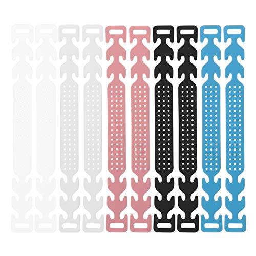 PIXNOR 10 Stück Gesichtsabdeckung Verlängerungshaken Einstellschnalle Ohrriemen Verlängerungsschnalle Einstellhaken Einstellhaken Einstellhaken Gemischte Farbe