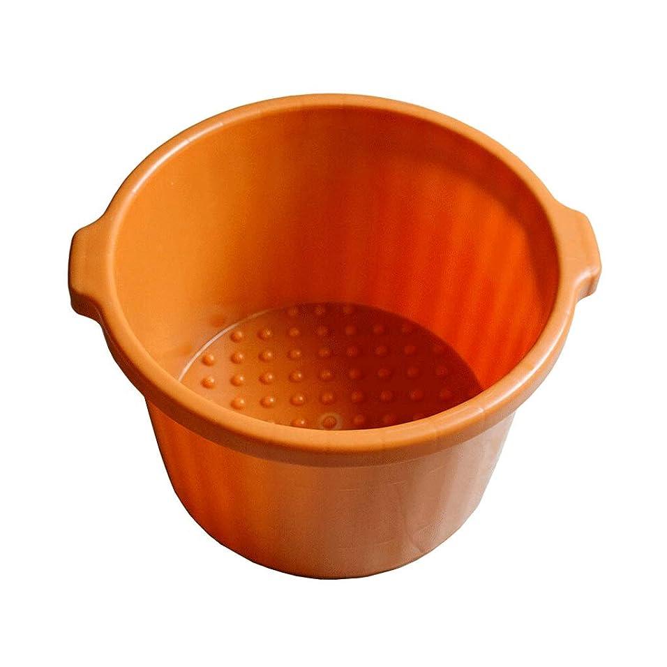 視聴者体癒す足浴桶 厚く足洗面フットスパバケツにタブ、ペディキュア、デトックス、マッサージ、オレンジを浸す大足を深めます
