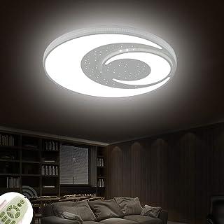 72W Plafón LED Moderno Estrella y Luna Lámpara de Techo con Control Remoto 3000-6500K Decoración Iluminación Niño Niña Sala Comedor Estudiar Ø60x6cm [Clase de eficiencia energética A+]