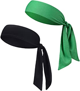 DEMIL Head Tie Tennis Tie Hairband - Sports Headband Ideal for Athletics,Pirates,Karate Keep Sweat & Hair Out of Your Face