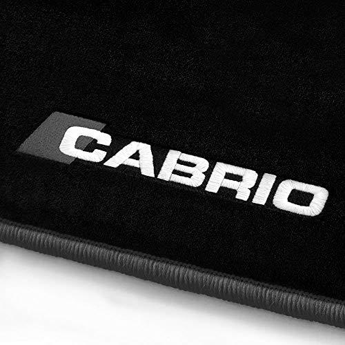 online-fussmatten Cabrio_01751 Fein-Velours Autoteppiche Stick Cabrio Stick- und Randfarbe Dunkelgrau - Fahrzeugtyp in der Artikelbeschreibung beachten!