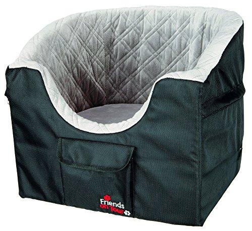 Trixie 13176 autostoel, 45 × 39 × 42 cm, zwart/grijs