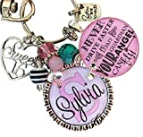 Sweet 16, birthday gift, 16th birthday gift, Never drive faster than guardian angel can fly, personalized key chain, daughter gift, niece gift, granddaughter gift, friend birthday gift