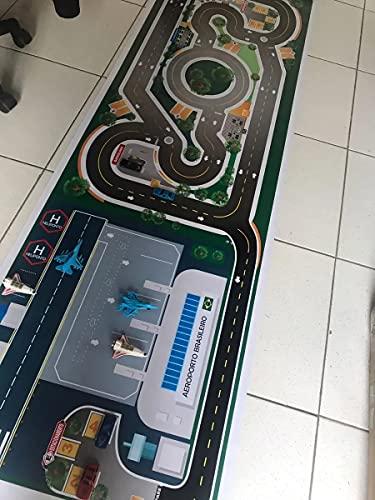 Pista Para Carros Miniatura Pista + Aeroporto Mega 1,60x0,60m