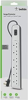 Belkin BSV603ar2M 6 Way/ 6 Plug 2m Surge Protection Extension Lead Strip - White