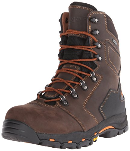 Danner Men's Vicious 8 Inch NMT Work Boot,Brown/Orange,10.5 D US