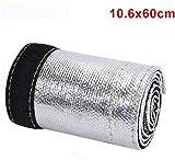 znwiem Auto Metallic Hitzeschutz Thermo Arm Isoliert Draht Schlauch Abdeckung Wrap Kabelbaum Schlauch - Glasfaser, 60cm*10.6 cm