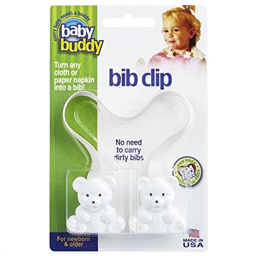 Price comparison product image Baby Buddy Bib Clip,  White