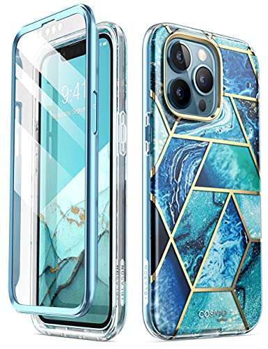 i-Blason Cosmo Series Case for iPhone 13 Pro 6.1 inch (2021 Release), Slim Full-Body Stylish Protective Case with Built-in Screen Protector - Ocean