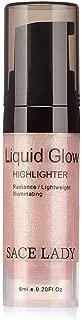 Shimmer Pearl Liquid Highlighter Makeup Ultra-Smooth Radiant Illuminator Face Cheekbones Glow Makeup, Travel Size Mini