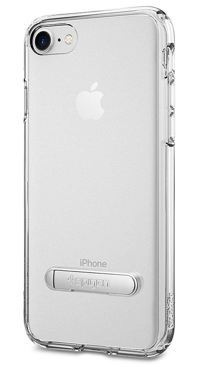 駐地狂人未満【Spigen】 スマホケース iPhone7 ケース 米軍MIL規格取得 全面 クリア キックスタンド機能 ウルトラ?ハイブリッド S 042CS20753 (クリスタル?クリア)